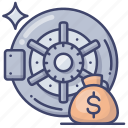 bank, deposit, safe, vault icon