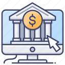 bank, online, web, website icon