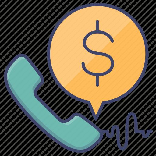 bank, call, phone, service icon