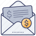 bill, invoice, mail, payment icon