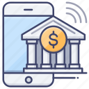 app, bank, mobile, transfer icon
