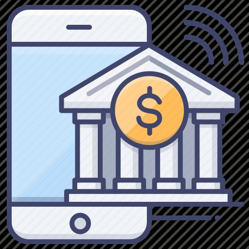 app, bank, mobile, transfer icon