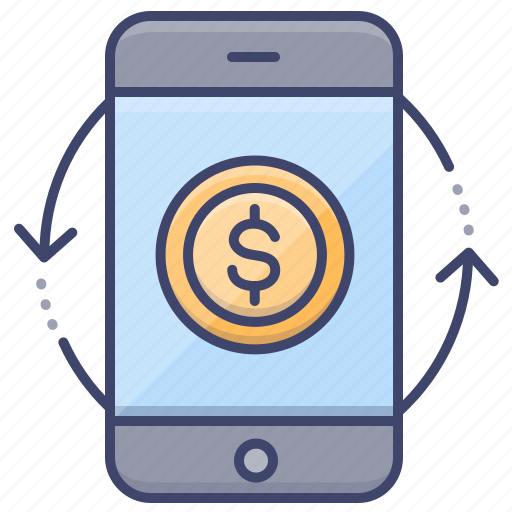 Mobile, money, smartphone, transfer icon - Download on Iconfinder