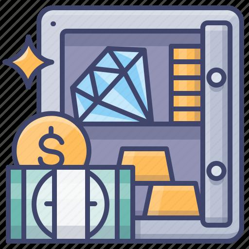 Asset, deposit, fortune, safe icon - Download on Iconfinder