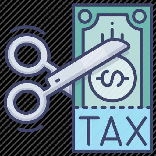 cut, loss, tariff, tax icon