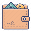 balance, money, purse, wallet icon