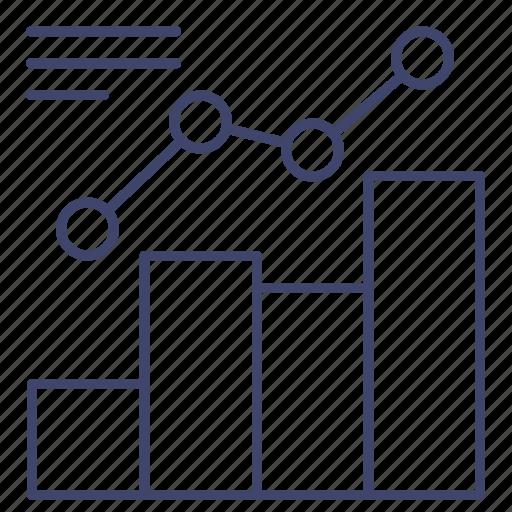 analytics, graph, growth, trend icon