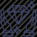 asset, diamond, protection, care icon