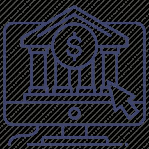 bank, online, web, website icon