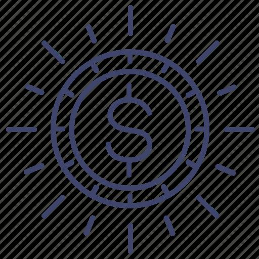 budget, coin, finance, money icon