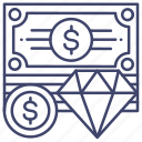 fortune, money, property, value icon
