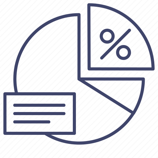 chart, diagram, finance, pie icon