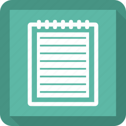 notepad, notes icon