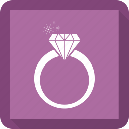 diamond, female, ring, woman icon
