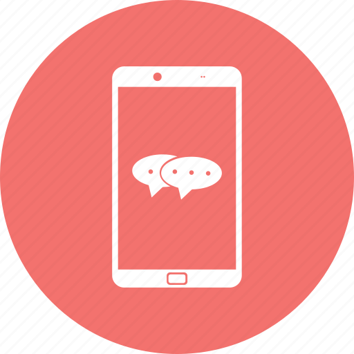 chat, iphone, message, mobile, smartphone, sms icon