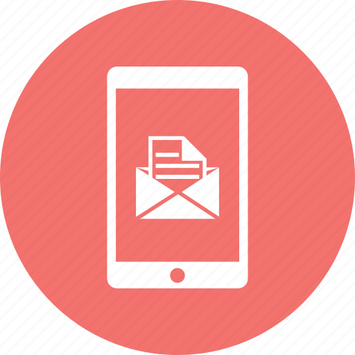 email, iphone, mobile, open mail, smartphone icon