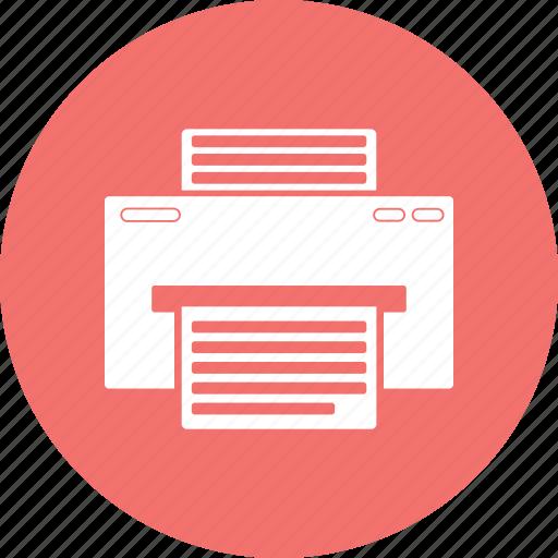 computer, computer network printer, network printer icon