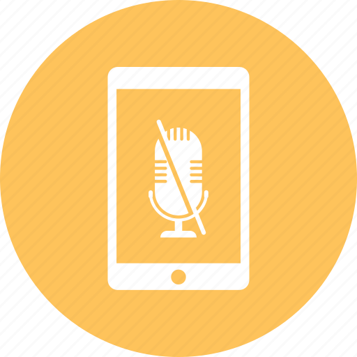 iphone, microphone, mobile, off, smartphone icon