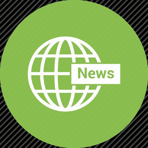 earth, globe, news, web, world icon