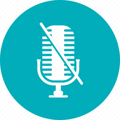 Record, mic, voice, off, microphone icon