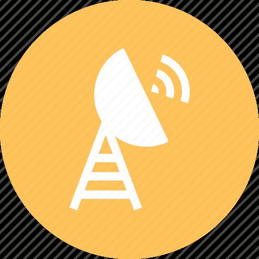 antenna, internet, satellite, signal icon