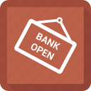 bank open icon