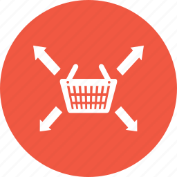arrow, basket, cart, left, right, shop, shopping icon