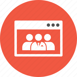 browser, internet, man, teamwork, webpage, website icon