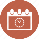 calendar, clock, eleven o' clock, month, schedule icon