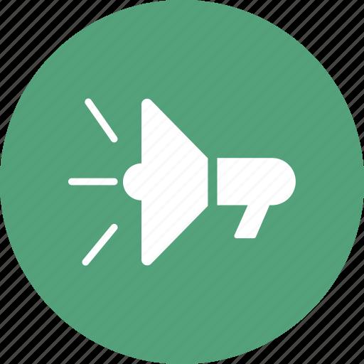 advert, advertising, mouthpiece, speaker icon