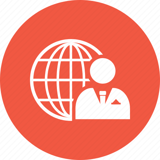 globe, internet, man, person, web, world icon