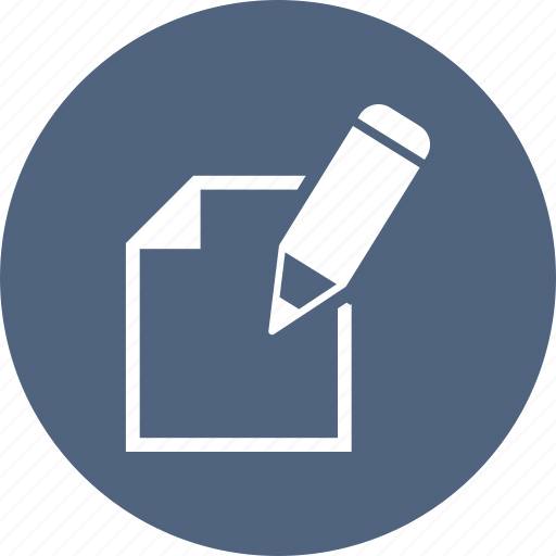 content, pencil, text, write icon