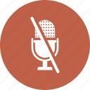 sound, mic, off, microphone icon