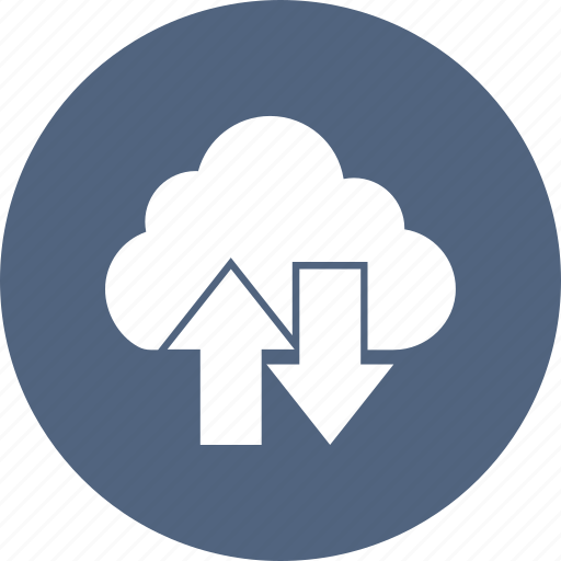 arrow, cloud, down, up icon