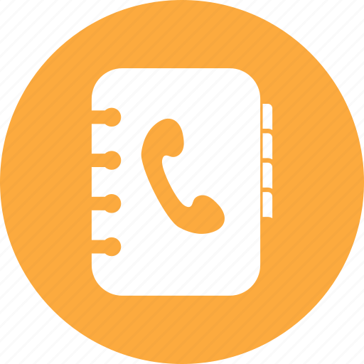 book, contact, phone icon