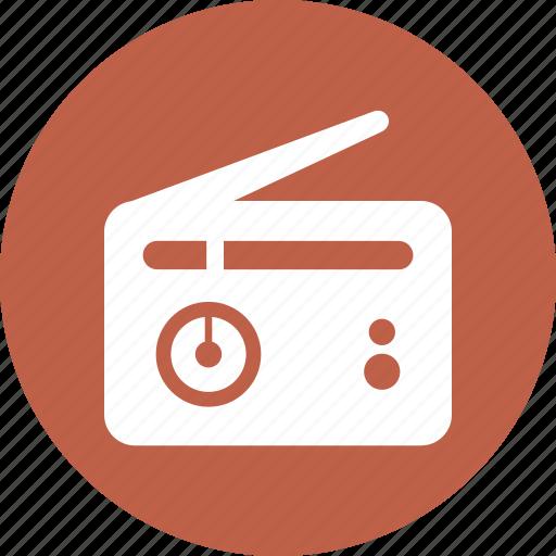 antenna, dial, radio icon