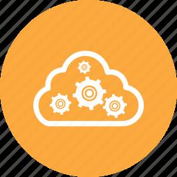admin, cloud, gears, setting icon