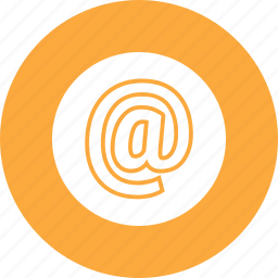 at, sign icon