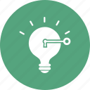 bulb, idea, key, light, strategy icon