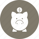 bank, money, piggy icon