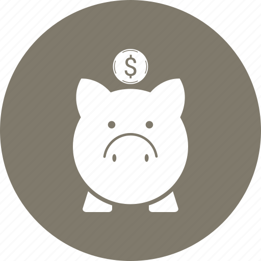 bank, money, piggy icon