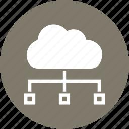 cloud, computers, server icon