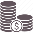 cash, coin, dollar, money icon