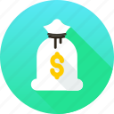 bag, bank, banking, finance, money, savings icon icon