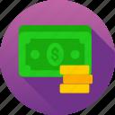 bank, cash, income, money icon icon