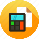 account, calculate, calculation, document, file, finance, report icon icon