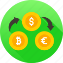 currency exchange, finance, money converter icon icon