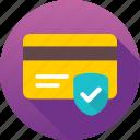 card protection, credit card, credit card protection, protection shield, shield icon icon