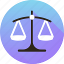 balance, risk analysis, risk evaluation, scale icon icon