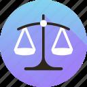 balance, risk analysis, risk evaluation, scale icon icon
